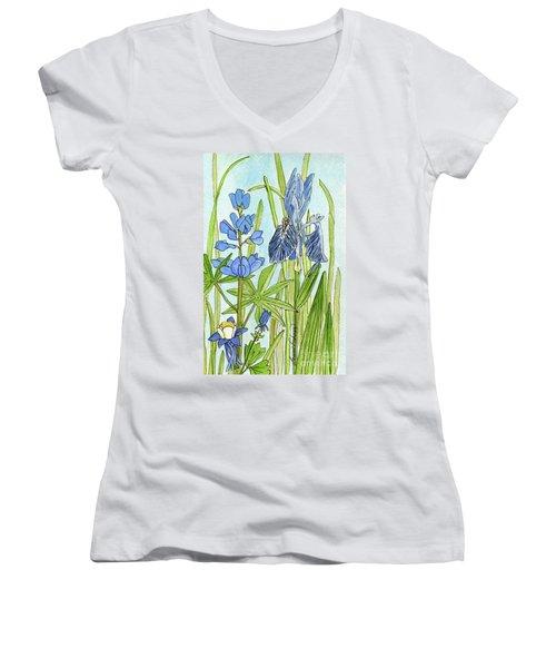 A Blue Garden Women's V-Neck (Athletic Fit)