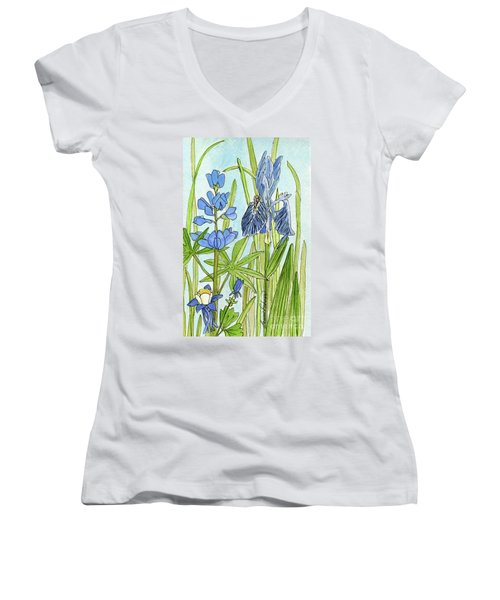 A Blue Garden Women's V-Neck