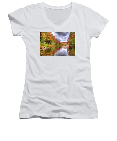 A Cloudy Autumn Day Women's V-Neck T-Shirt