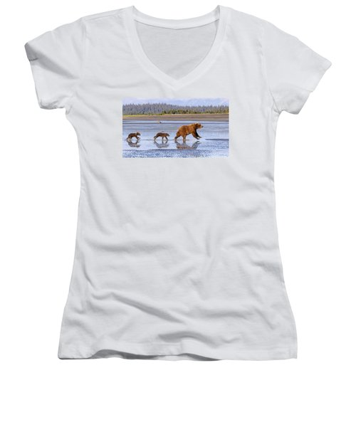 A Day At The Beach Women's V-Neck T-Shirt