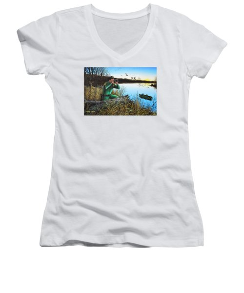 A Day At The Office - Icoo Women's V-Neck