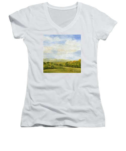 A Day In Autumn Women's V-Neck