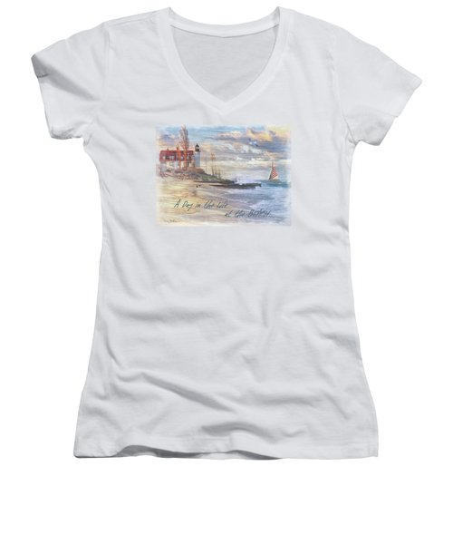 A Day In The Life At The Beach Women's V-Neck (Athletic Fit)