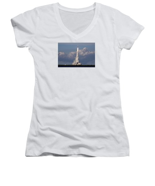 A Delta Iv Rocket Soars Into The Sky Women's V-Neck