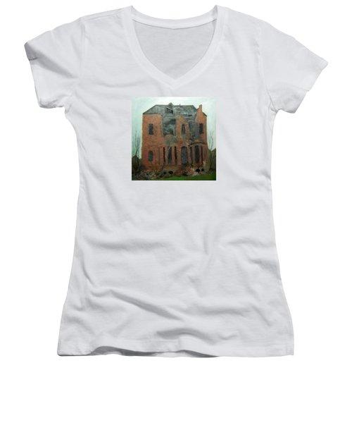 A Derelict House Women's V-Neck (Athletic Fit)