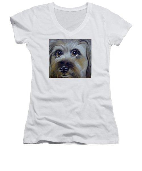 A Dog's Love Women's V-Neck (Athletic Fit)