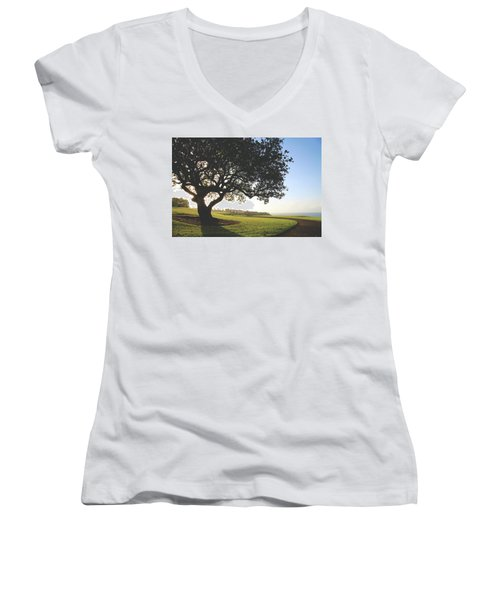 Women's V-Neck T-Shirt (Junior Cut) featuring the photograph A Dreamy Dream by Laurie Search