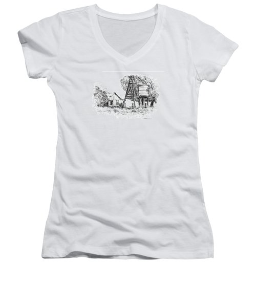 A Farm In Schroeder Women's V-Neck (Athletic Fit)