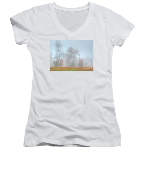 A Foggy Morning Women's V-Neck