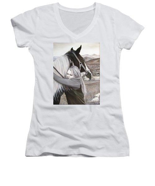 A Girls Best Friend Women's V-Neck T-Shirt