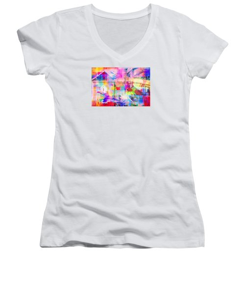 Wayzata Collage Women's V-Neck T-Shirt