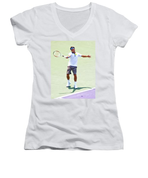 A Hug From Roger Women's V-Neck (Athletic Fit)