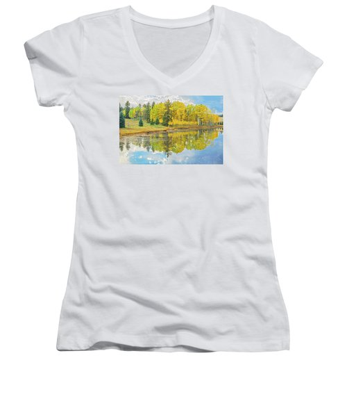 A Lakeside Willowwacks  Women's V-Neck T-Shirt