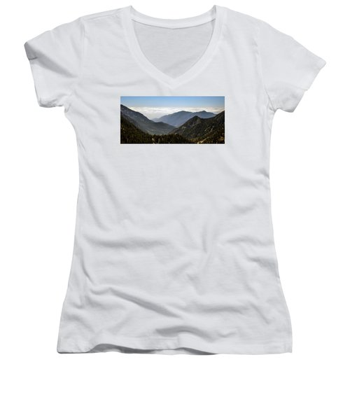 A Lofty View Women's V-Neck T-Shirt
