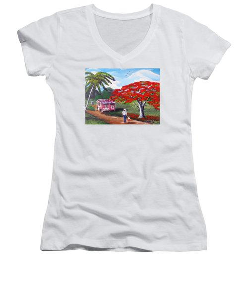 A Memorable Walk Women's V-Neck (Athletic Fit)