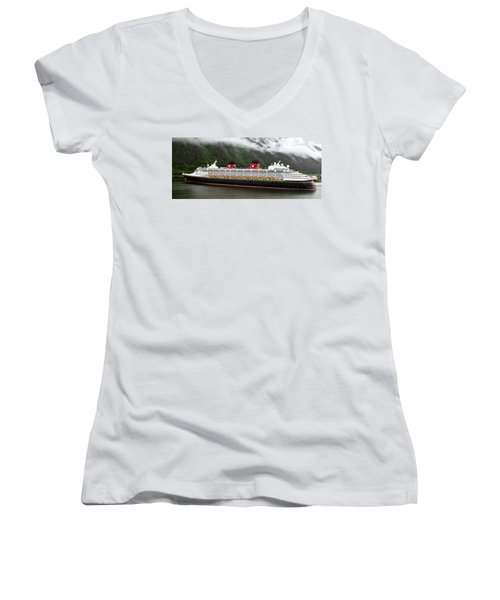 A Mickey Mouse Cruise Ship Women's V-Neck