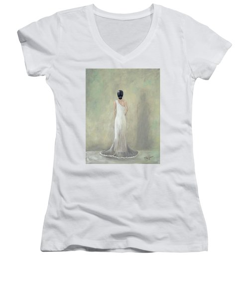 A Moment Alone Women's V-Neck T-Shirt