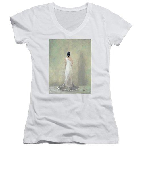 A Moment Alone Women's V-Neck T-Shirt