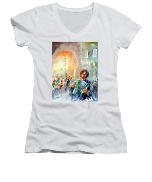 A Night At The Tavern Women's V-Neck T-Shirt