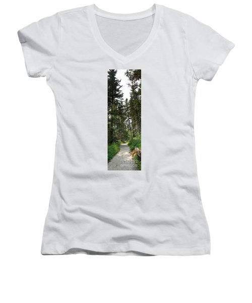 A Path Through The Trees Women's V-Neck T-Shirt