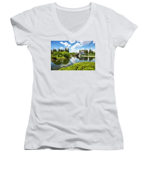 A Perfect Day In The Garden Women's V-Neck