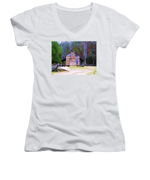 A Place In The Woods Women's V-Neck T-Shirt
