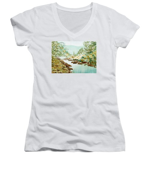 A Quiet Stream In Tasmania Women's V-Neck