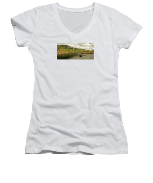 A Rock And A Hard Place Women's V-Neck (Athletic Fit)