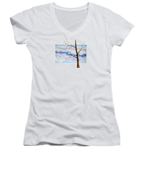 A Tree In Another Dimension Women's V-Neck T-Shirt