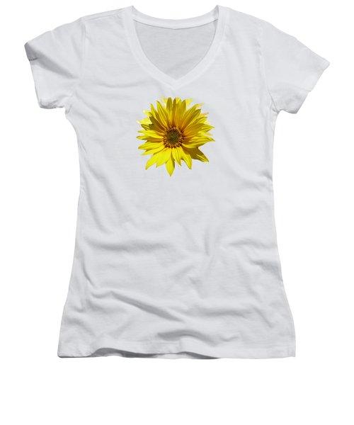 A Vase Of Sunflowers Women's V-Neck T-Shirt