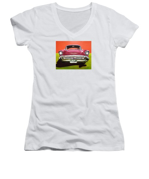 A Veteran's Ride Women's V-Neck (Athletic Fit)
