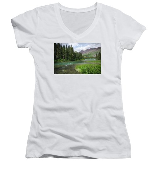 A Walk In The Forest Women's V-Neck