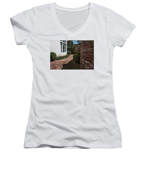 A Walk Through The Greenbrier Women's V-Neck T-Shirt