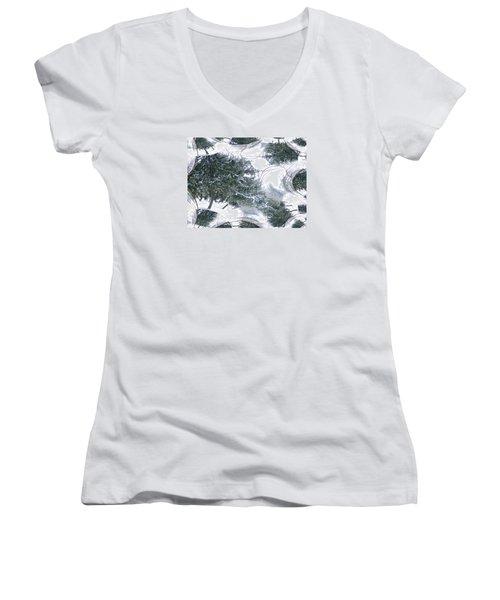 A Winter Fractal Land Women's V-Neck T-Shirt