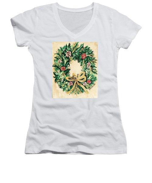 A Wreath  Women's V-Neck T-Shirt