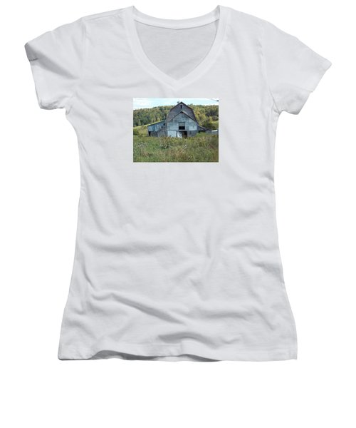 Abandoned Barn Women's V-Neck T-Shirt (Junior Cut) by Catherine Gagne
