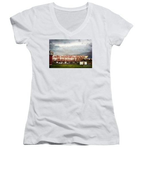 Abandoned Dairy Farm Women's V-Neck T-Shirt