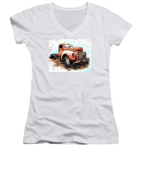 Abandoned Women's V-Neck T-Shirt (Junior Cut) by Heidi Kriel