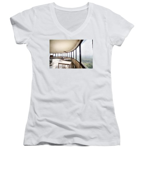Abandoned Tower Restaurant - Urban Decay Women's V-Neck T-Shirt