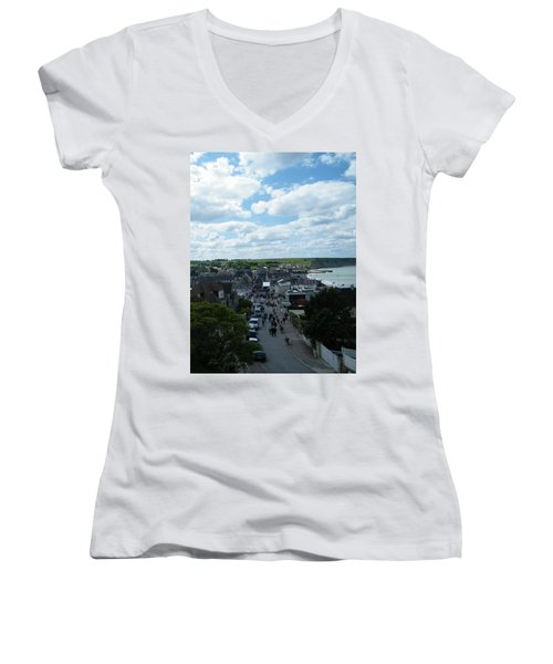Above Arromanches-les-bains Women's V-Neck