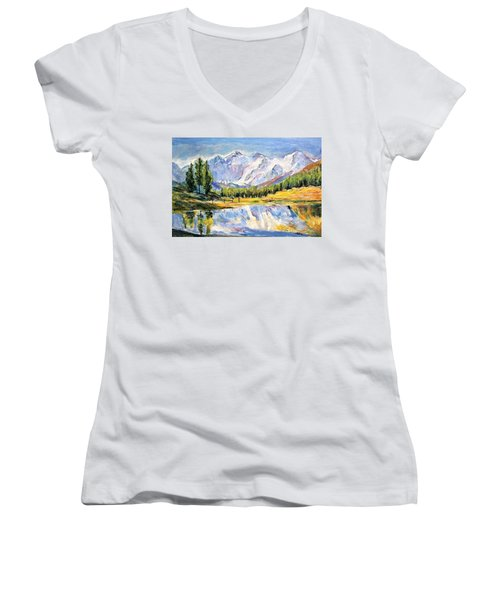 Above The Sea Level Women's V-Neck (Athletic Fit)