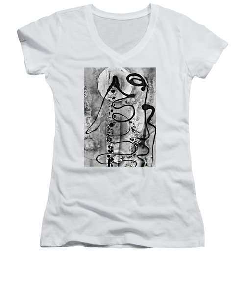 Abstract 12 Women's V-Neck (Athletic Fit)