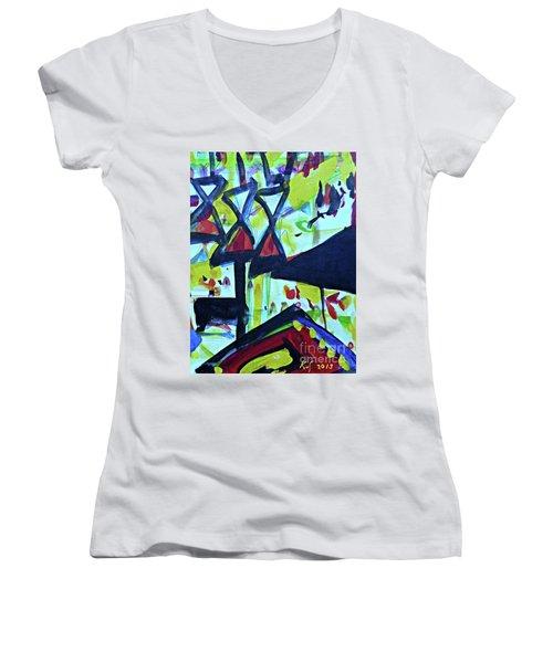 Abstract-27 Women's V-Neck