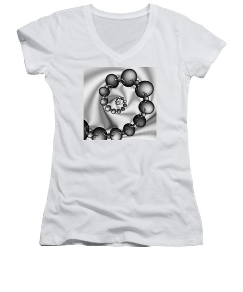 Abstract 537 Bw Women's V-Neck