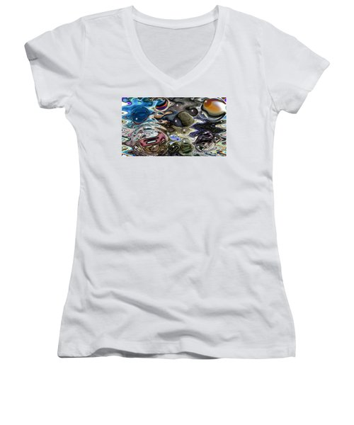 Abstract 623164 Women's V-Neck (Athletic Fit)