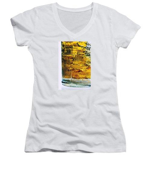 Abstract #8442 Women's V-Neck T-Shirt (Junior Cut) by Andrey Godyaykin