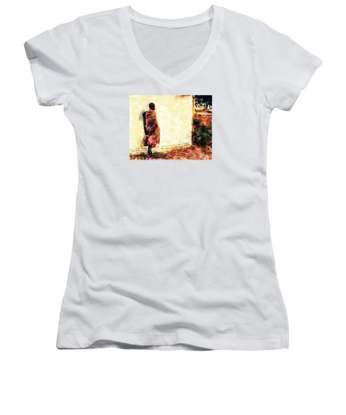 Abstract And Bold Women's V-Neck