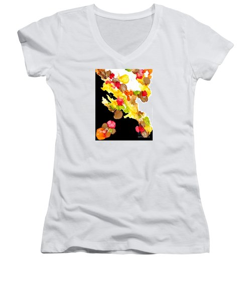 Abstract Bouquet Women's V-Neck (Athletic Fit)
