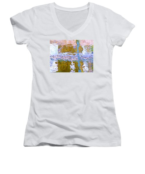 Abstract Directions Women's V-Neck T-Shirt