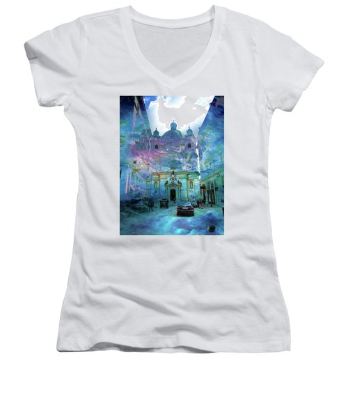 Abstract  Images Of Urban Landscape Series #9 Women's V-Neck